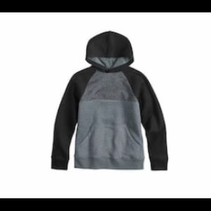 NWT size small boys black and gray hoodie